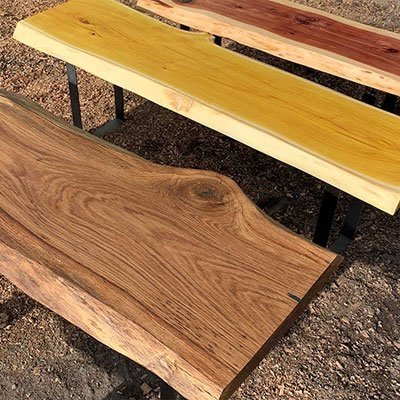 Wood Benches & Tables